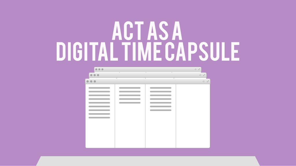 Digital time capsule
