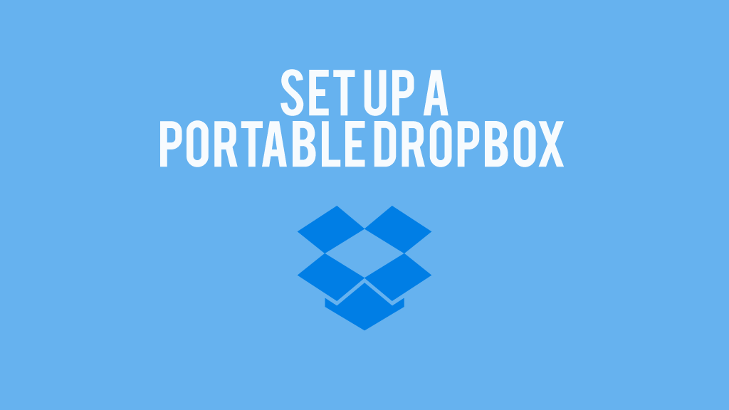 Set up a portable DropBox